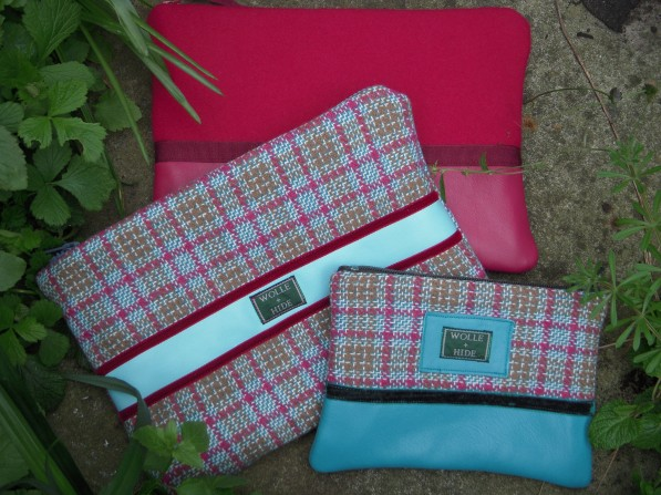 three wool purses sizes