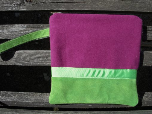 Cashmere with lime suede
