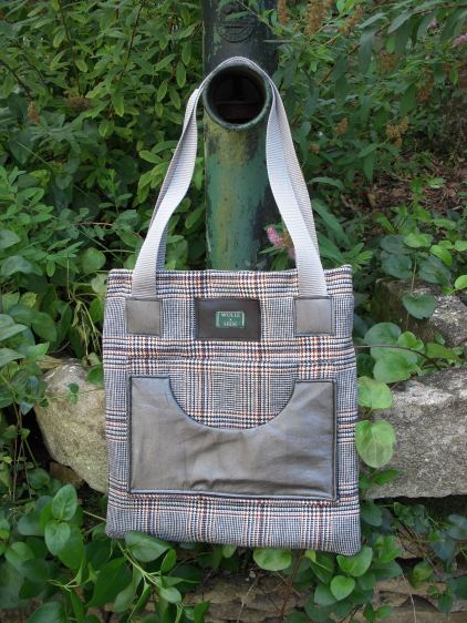CWW check with metallic leather