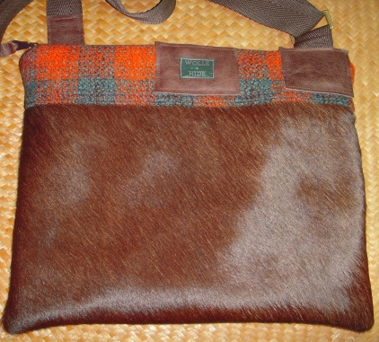 HAIR-ON COWHIDE and WOOL CHECK